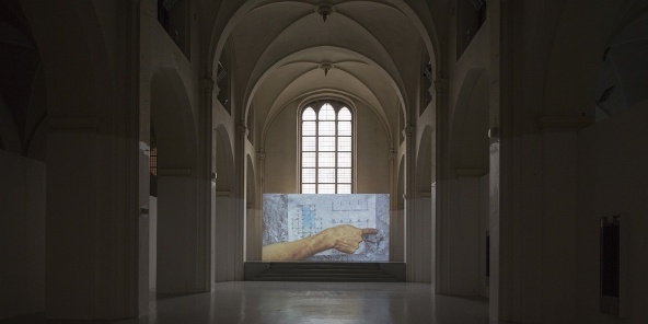 """TRUST - The Temple: Jessica Baxter: """"Do Not Feed The Artists. They Have Already Too Much To Digest"""", 2015. Installationsview. Photo: Torben Eskerod"""